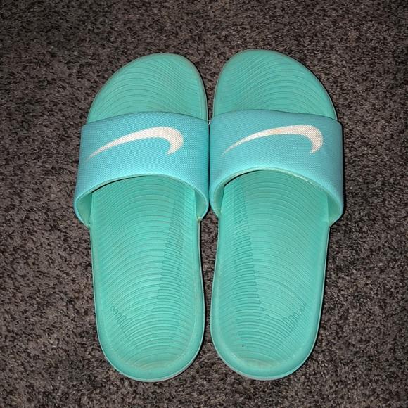 0d0f1597a Aqua Nike slides. Good condition. M 5abdd9468af1c5089794faeb